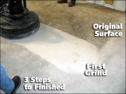 Concrete Polishing 3 Steps